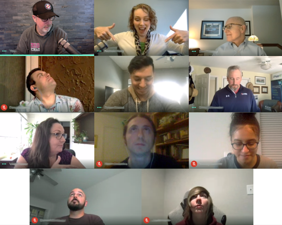 RedMonocle Team on a video call